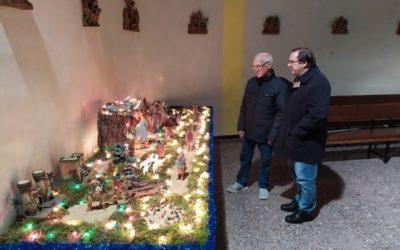 El parroquià Baldomero, 40 anys fent el pessebre a Salesians Ciutat Meridiana