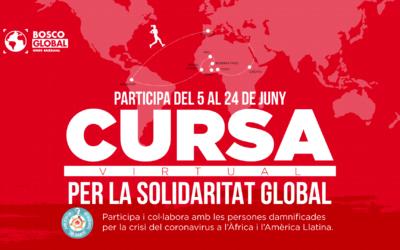 Bosco Global et convida a participar a la #CursaperlaSolidaritatGlobal i col·laborar amb les persones més damnificades per la pandèmia a l'Àfrica i Amèrica Llatina