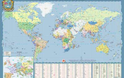 Publicado el mapa salesiano 2020 con la presencia de la Congregación en el mundo