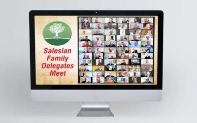 Primera trobada online dels Delegats Inspectorials de la Família Salesiana en el món.
