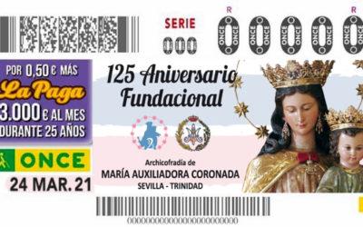 La ONCE dedica un cupón a María Auxiliadora en Conmemoración del 125 aniversario fundacional