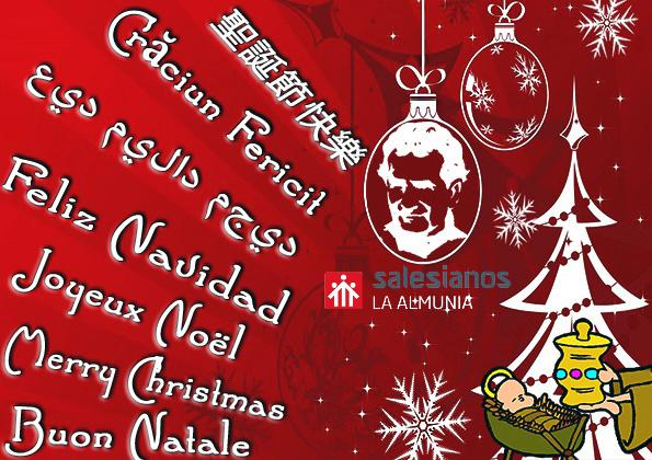 El alumno ganador del concurso de postales de navidad en Salesianos La Almunia explica su diseño