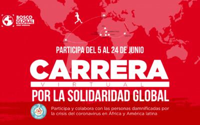 Bosco Global te invita a participar en la #CarreraporlaSolidaridadGlobal y colaborar con las personas más damnificadas por la pandemia en África y América Latina