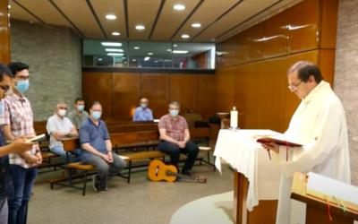 Jóvenes salesianos renuevan sus votos como religiosos en Barcelona