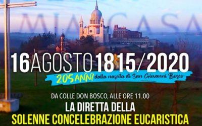 La Familia Salesiana se une en una eucaristía on line por el 205° cumpleaños de Don Bosco