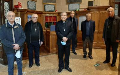 Visita del Nuncio Apostólico en España al templo del Tibidabo