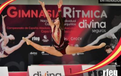Sandra Navarro de Salesianos Villena participa en el Campeonato de España de Gimnasia Rítmica