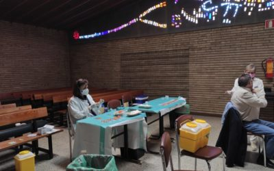 Imágenes para la esperanza:  La parroquia salesiana de Zaragoza, sede de vacunación