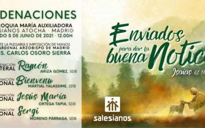 Mes de celebraciones vocacionales para los Salesianos en España