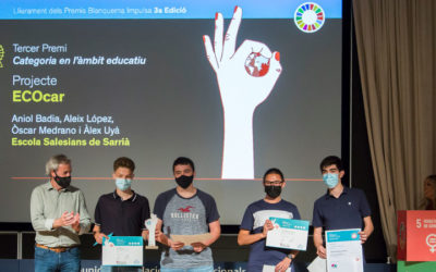 Cuatro alumnos de Bachillerato de Salesianos Sarrià ganadores del 3er Premio Blanquerna Impulsa
