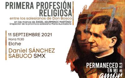 Elche acogerá la primera profesión como religioso del joven Daniel Sánchez Sabuco