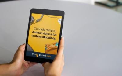 Amazon lanza la segunda edición de 'Un clic para el cole' para apoyar a los centros educativos con un porcentaje de las compras